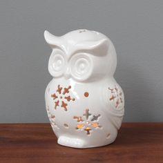 Owl Tealight Holder Pinned by www.myowlbarn.com Crazy Owl, Owl Always Love You, Ceramic Owl, Owl Crafts, Snowy Owl, Owl House, Owl Art, Cute Owl, Home And Deco