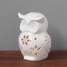 Owl Tealight Holder  Pinned by www.myowlbarn.com