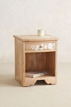 Anthropologie Pearl Inlay Nightstand #AnthroFave