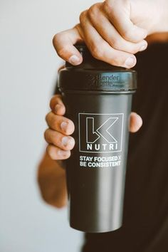"""Shaker Bottles are perfect for mixing your BCAAs, favorite protein shake, or even as a sturdy water bottle. Featuring the K Nutri logo and our motto """"Stay Focused x Be Consistent"""" Wire Whisk, Blender Bottle, Workout Essentials, Shaker Bottle, Nutrition Shakes, Stay Focused, Protein Shakes, Motto, Bottles"""