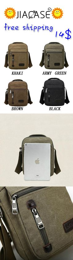 #Canvas #Vintage #School #Satchel #Messenger #Military #Shoulder Leather #Bags