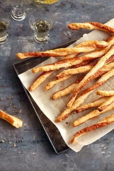 Parmesan Cheese Straws:  An easy, cheesy breadstick recipe that kids will love. Plus, see more of our favorite healthy snacks for kids! #food #snacks #kids