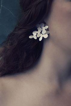 Norwegian jewelry design Magnolia large earrings by @kajagjedebodesign www.kgd.no  #Magnolia #largeearrings #secretgarden #contemporaryjewelry #modern  #norskdesign #norwegiandesign #scandinaviandesign #origami #lovejapan #silver #jewelry #earrings #bølerbling #kajagjedebodesign #kgd #gold #ethicaldesign #slowfashion #slowshopping #wedding #gift #girls #girlboss #femaleboss