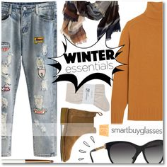 Winter Look with the New Sunglasses by anilovic on Polyvore featuring moda, Chloé, Johnstons, Bottega Veneta, The Cambridge Satchel Company, TravelSmith, Versace, lilah b., Old Navy and smartbuyglasses
