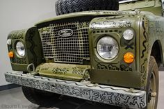 Detail from a Keith Haring decorated Land Rover at the Petersen Museum, photo ©laura l. sweet