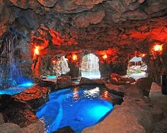 Grotto in your own backyard...Note the log cabin in the the background that can be seen in the right corner opening..
