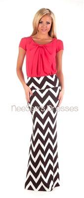 Black and White Chevron Maxi Skirt must buy one like this! -GB