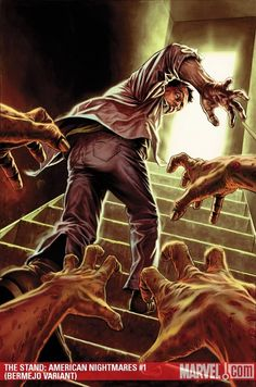 Another issue of the Marvel collection of The Stand by Stephen King graphic novel adaptations. Arte Zombie, Zombie Art, Zombies, Lee Bermejo, San Diego, Creepy Monster, Horror Themes, Classic Monsters, Marvel