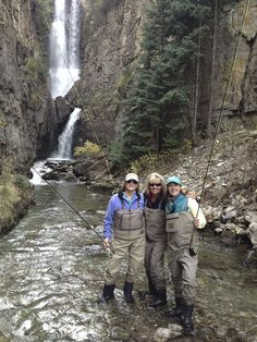 Great to see ladies enjoying the outdoors, Fly Fishing. Beautiful picture.