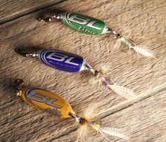 Fishing lures made out of bottle tops. Would be fun with his favorite soda! Maybe some DrPepper ones for dad on fathers day
