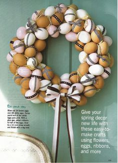 Karin Lidbeck: DIY Easter Wreath - Made with Eggs! Yes, Eggs!