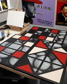 #studioart #acryliconcanvas #artexhibition #irishartist #irishgraphicdesigners #freehandpainting Art Studios, Irish, Hand Painted, Graphic Design, Free, Irish Language, Ireland, Visual Communication, Artist Studios