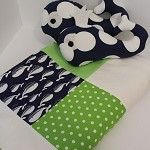 Whale boys cot/crib quilt set, 2x whale softies, READY TO SHIP - by kyliesquiltingcorner on madeit