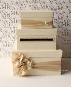Wedding Card Box Money Box Gift Card Holder  by jamiekimdesigns, $109.00. I think i could DIY it!