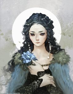 janainaart:  Portrait of Lyanna Stark. Prize for LadiesOfThronesthe winner of the giveaway.