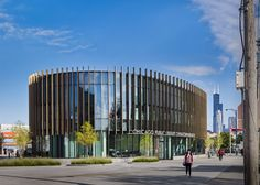 SOM incorporated principles from Feng Shui, the ancient Chinese design philosophy, while conceiving the new Chinatown Branch Library in Chicago