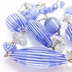 VINTAGE 1920s VENETIAN RARE MORETTI FILIGREE GLASS BEAD NECKLACE - BOOK PIECE | eBay