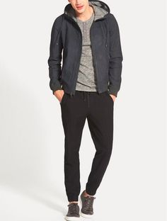NWT VINCE Hooded Nubuck Leather Jacket, COASTAL BLUE, Large $1095-SOLD OUT STYLE   eBay