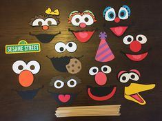 Items similar to Sesame Street Photo Booth Props 10 Character Package (Set of 23 Pieces) on Etsy Sesame Street Food, Sesame Street Signs, Sesame Street Party, Sesame Street Birthday, Elmo Cookies, Elmo Birthday, Birthday Ideas, Photo Booth Props, Street Photo