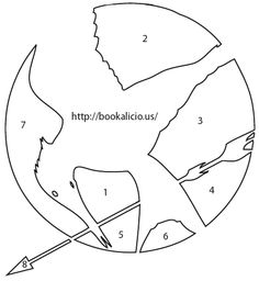 Mockingjay pin stencil for a pumpkin! good outline for cake design Hunger Games Crafts, Hunger Games Cake, Hunger Games Party, Halloween Pumpkins, Fall Halloween, Happy Halloween, Halloween Costumes, Halloween Ideas, Fun Crafts