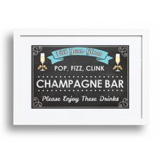 A Champagne Bar is a MUST at our Champagne and Cupcake Theme Shower! Champagne Cupcakes, Champagne Bar, Tiffany And Co, Letter Board, Create Your Own, Bridal Shower, Glass, Shower Party, Drinkware