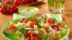 Pasta-Salat mit Hähnchenbrust