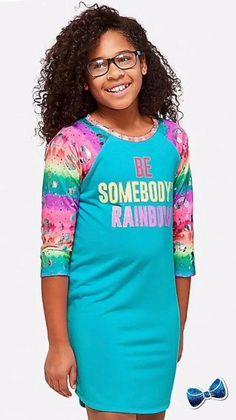 Justice Girls Size 10 Tie Dye Ruffle  Pajama Set New W Tags