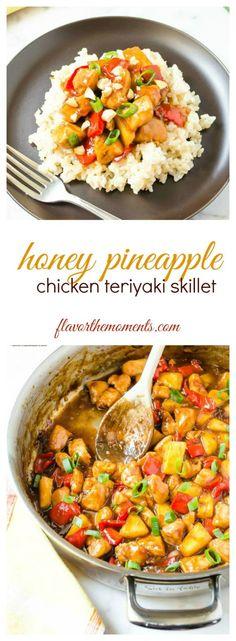 honey-pineapple-chicken-teriyaki-skillet-collage | flavorthemoments.com