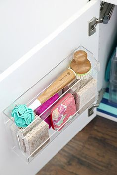 Kitchen Organization Ideas - Command Strips, Hooks   Apartment Therapy