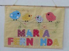 Porta maternidade personalizada menina patchwork www.ateliecolorir.com.br