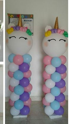DIY Birthday Decorations for Girls Tween – Balloon Columns unicorn balloon columns Diy Unicorn Birthday Party, Unicorn Birthday Decorations, Unicorn Birthday Invitations, 1st Birthday Parties, Birthday Ideas, Unicorn Party Decor, Baby Birthday, Unicorn Baby Shower, Birthday Balloons
