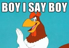 One of my favourite cartoons...foghorn leghorn:)
