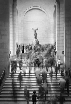 "paris2london: "" aboutvisualarts: "" Stairs Musée du Louvre, Paris. Photographer Anna Kucherova "" Best thing there """