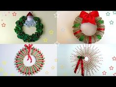 Best designs ideas of adornos de navidad manualidades Diy And Crafts Sewing, Crafts For Girls, Crafts To Sell, Diy Crafts, Homemade Christmas Wreaths, Christmas Decorations, Holiday Decor, Craft Wedding, Craft Videos