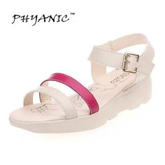 13.41$  Buy now - http://ali536.shopchina.info/go.php?t=32796011936 - PHYANIC 2017 Women Platform Shoes Summer Style Ladies Sport Sandals Casual Mesh Breathable Shoes Comfy Wedges Sandals Women  #bestbuy