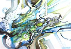 New Psychedelic AbstractWatercolor Painting *Eleven Percent* by JeffJag http://artblog.jeffjag.com http://artblog.jeffjag.com/post/78794414775/elevenpercent-watercolor-redbubble