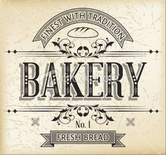 Vintage Bakery Sign 34