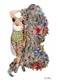 Plus Size Art: The Beauty of Every Woman by Tara O'Brien on The Curvy Fashionista