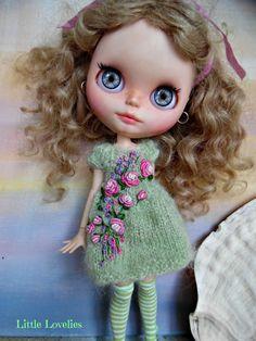 BLYTHE DOLL Dress OOAK Delicate green by LittleLovelieShop