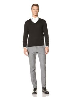 77% OFF Ballantyne Men's V-Neck Pullover (Black)