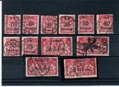 Gdansk Guldenmarken Michel 181-192. used. Infla genuine    Dealer  PPH Asbit    Auction  Minimum Bid:  330.00EUR