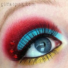Wonder Woman inspired look by Glitter Girl C using Sugarpill and #MakeupGeek eyeshadows!