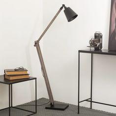 Lampadaire en métal et bois H 150 cm FOODTRUCK
