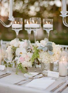 Featured Photographer: Sylvie Gil Photography; Wedding reception centerpiece idea.