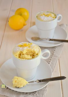 Mug cake o torta in tazza al limone