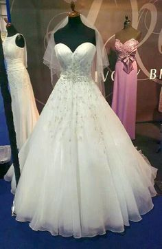Fabulous wedding dress from Ivory Bridal stand
