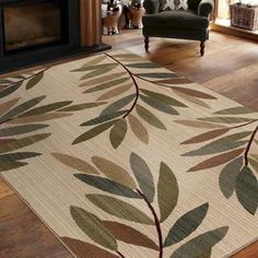 "Shop for Virtuous Collection Tangled Leaves Beige Area Rug (7'10"" x 10'10""). Get free shipping at Overstock.com - Your Online Home Decor Outlet Store! Get 5% in rewards with Club O!"