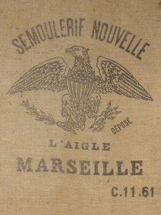 vintage french sailor bag | BURPAP HESSIAN vintage French GRAIN bag by simplyfrenchvintage, $55.00