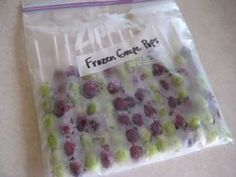Frozen Grape Pops. Might be good for picnics or parties (but beware the choking hazard for kids). I still prefer just frozen grapes in a container... easier than  having to take them off the stick.
