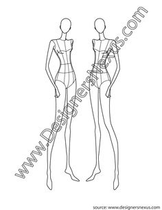 Fashion Design Female Croqui V3 Front 3/4 Pose - FREE download and more croquis in Illustrator & .png at designersnexus.com!
